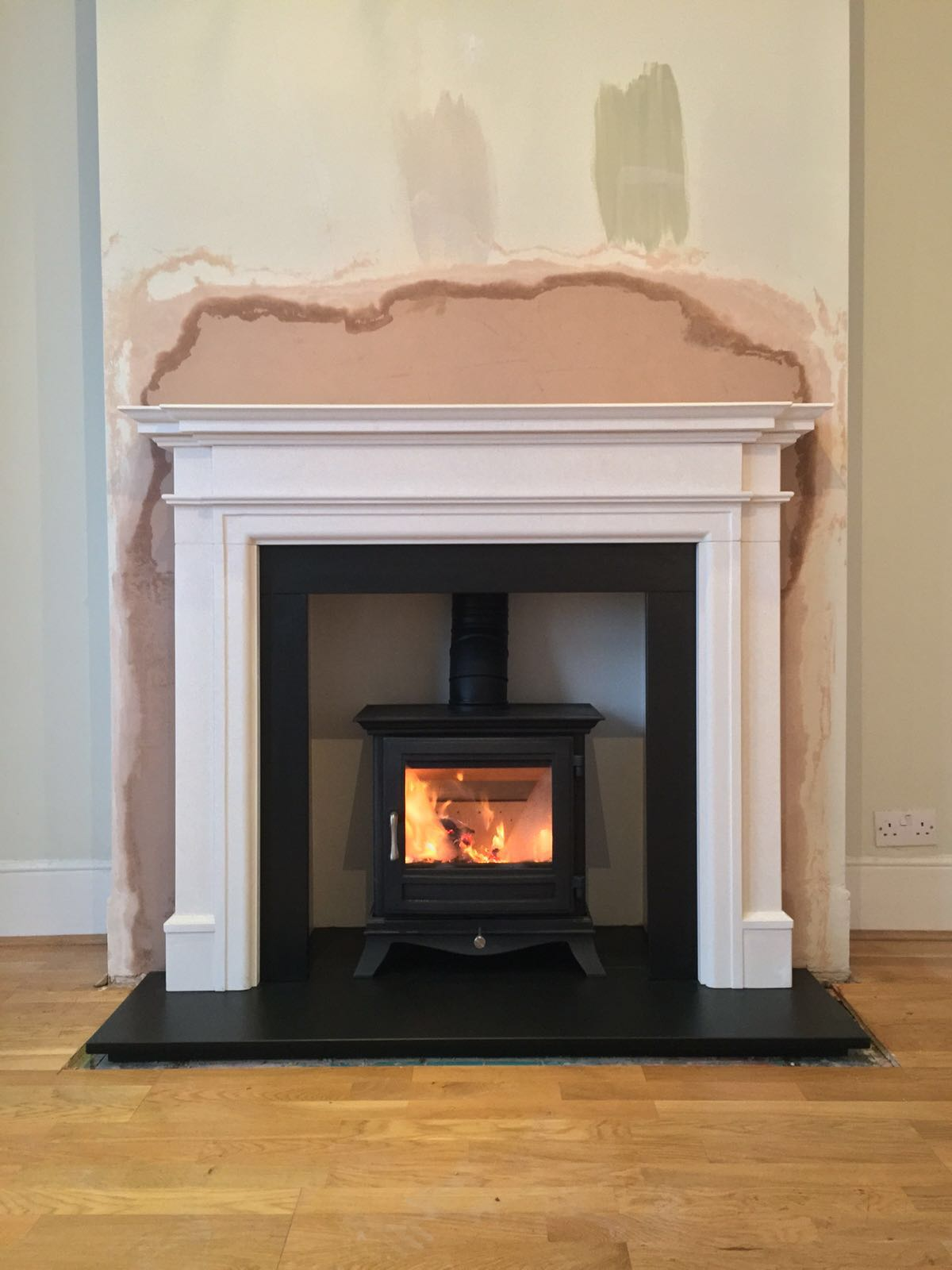 Project 82 Wood Burning Stove Installation Tooting London After Install My Fireplace
